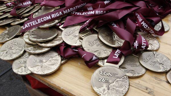 Медали Рижского марафона - Sputnik Латвия
