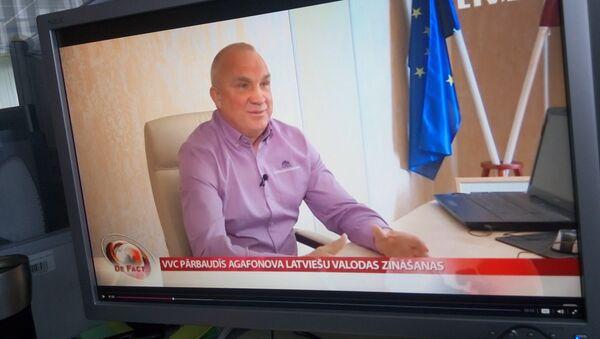 Oļegs Agafonovs LTV programmā De Facto. Foto no arhīva - Sputnik Latvija