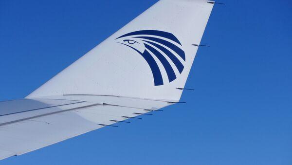 Крыло самолета компании EgyptAir - Sputnik Latvija