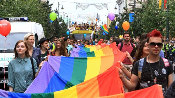Во время участия в Baltic Pride 2013 в июле 2013 года, Вильнюс - Sputnik Latvija