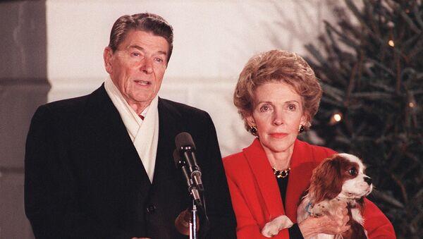 Питомец 40‑го президента США Рональда Рейгана ‑ королевский спаниель Рекс - Sputnik Латвия