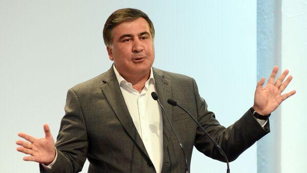 Bijušajs Gruzijas prezidents un Odesas apgabala gubernators Mihails Saakašvili - Sputnik Latvija