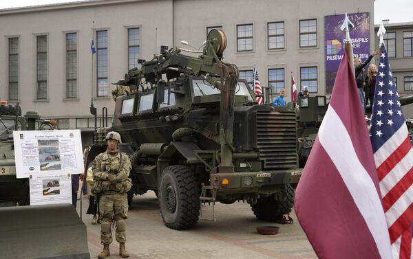 2-й кавалерийский полк США в Даугавпилсе - Sputnik Латвия