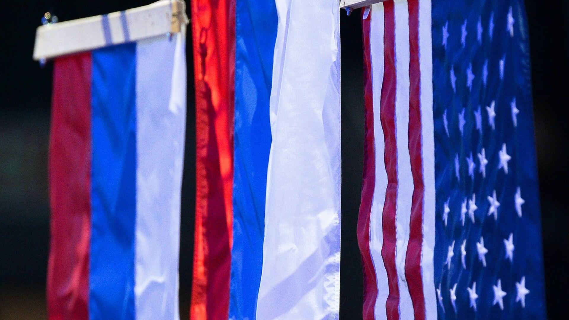 Флаги России и США - Sputnik Латвия, 1920, 15.06.2021