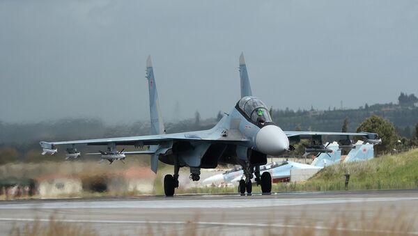 Aviācijas bāze Hmeimima Sīrijā. Foto no arhīva - Sputnik Latvija
