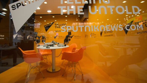 Стенд Международного информационного агентства Sputnik - Sputnik Латвия
