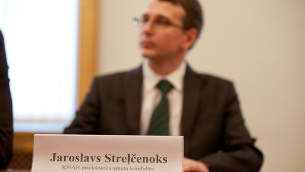 Ярослав Стрельчонок на пресс-конференции - Sputnik Латвия