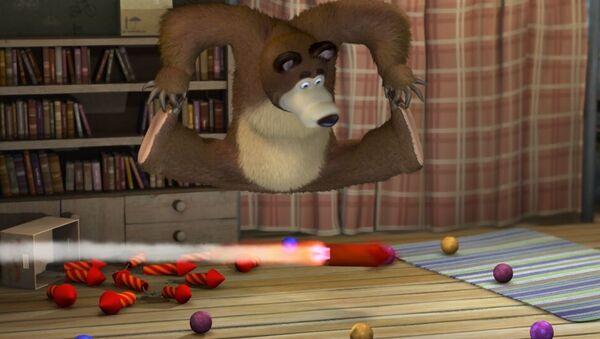 Кадр из мультфильма Маша и медведь - Sputnik Latvija