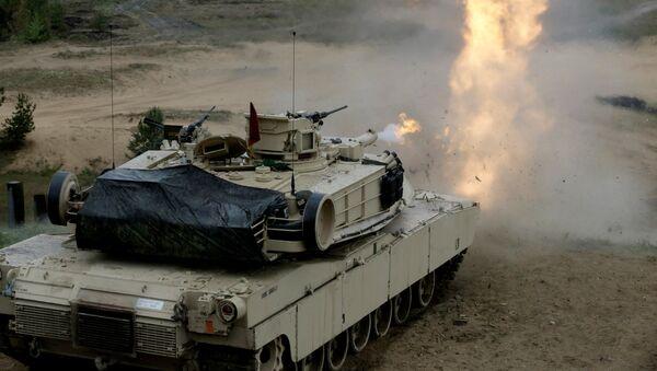 ASV tanks M1 Abramss militārajās mācībās Ādažos. Foto no arhīva - Sputnik Latvija