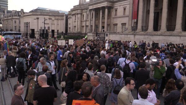 Митинг в Лондоне против Brexit в преддверии референдума в Великобритании - Sputnik Latvija
