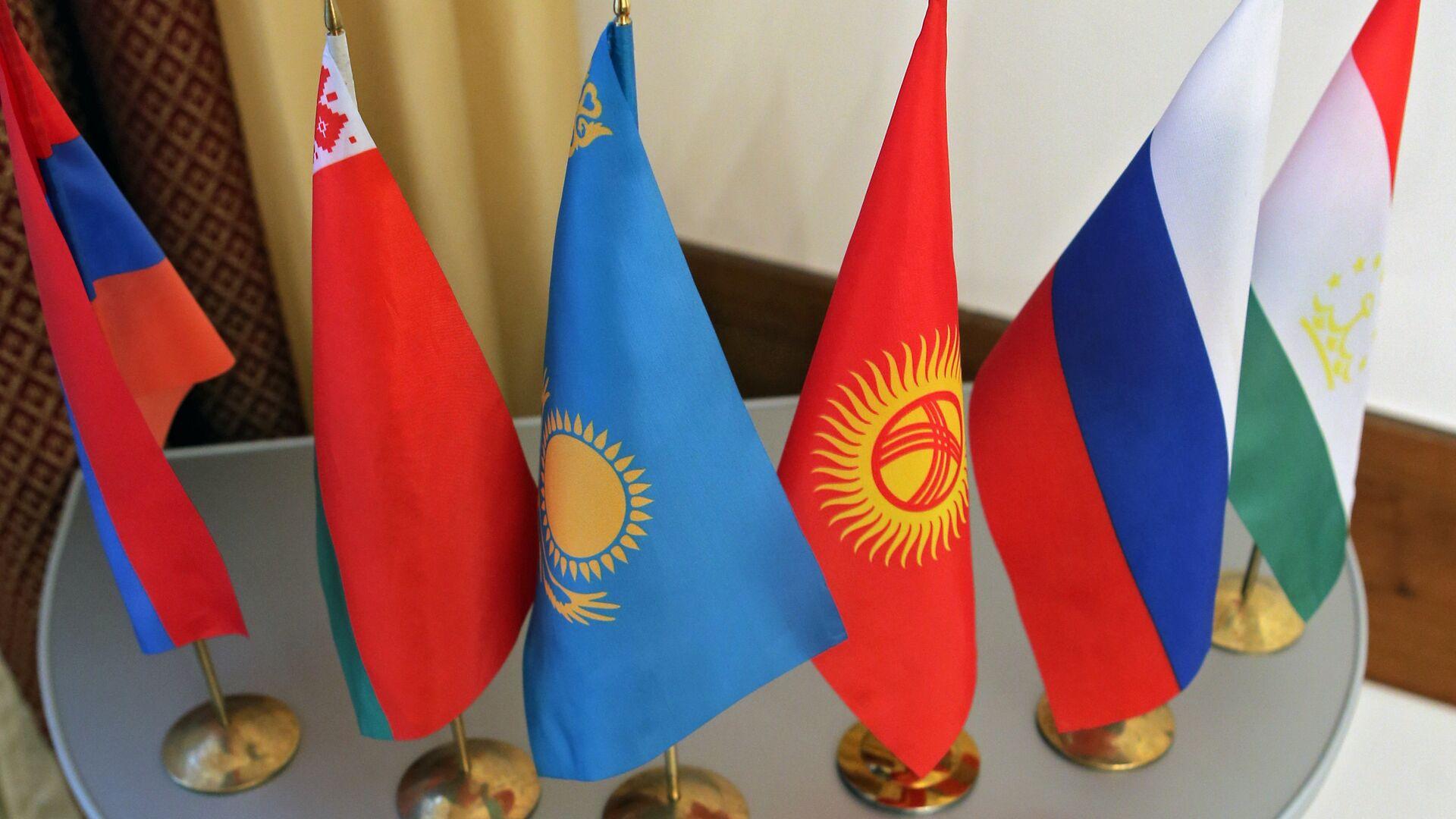 Флаги стран участниц Шанхайской организации сотрудничества - Sputnik Latvija, 1920, 19.09.2021