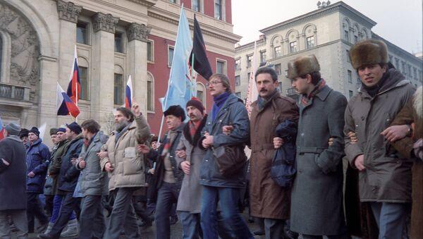 Митинг на Тверской улице. распад СССР - Sputnik Latvija