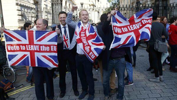 Сторонники выхода Великобритании из Евросоюза на улице Лондона - Sputnik Латвия