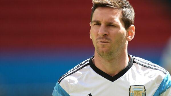 Игрок сборной Аргентины по футболу Лионель Месси. Архивное фото - Sputnik Latvija