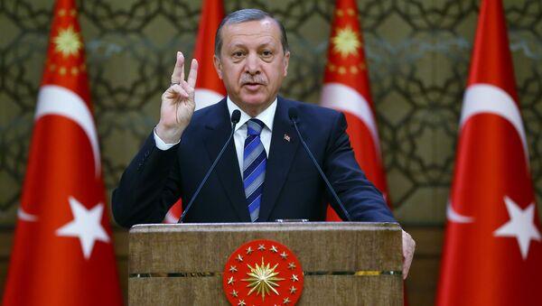 Президент Турции Реджеп Тайип Эрдоган. - Sputnik Латвия