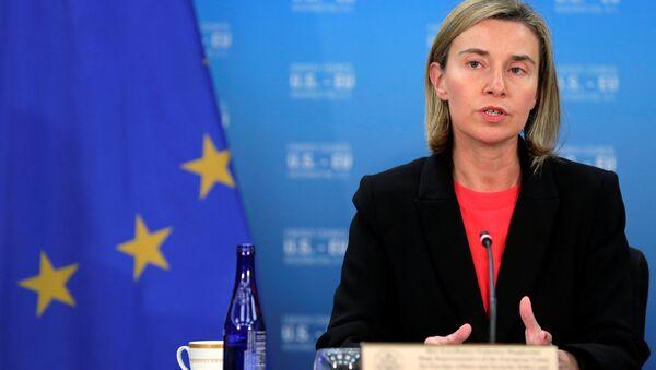 Eiropas Savienības augstā pārstāve Federika Mogerīni - Sputnik Latvija