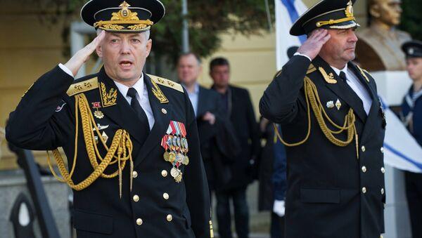 Празднование 79-й годовщины Черноморского высшего военно-морского училища им. П.С. Нахимова - Sputnik Латвия