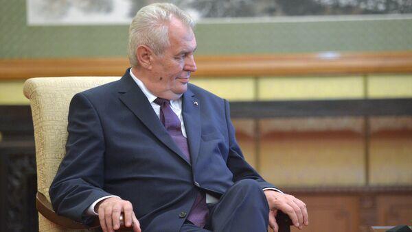 Čehijas prezidents Milošs Zemans - Sputnik Latvija