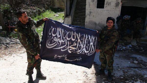 ISIS karogs Rakas pilsētā Sīrijā - Sputnik Latvija