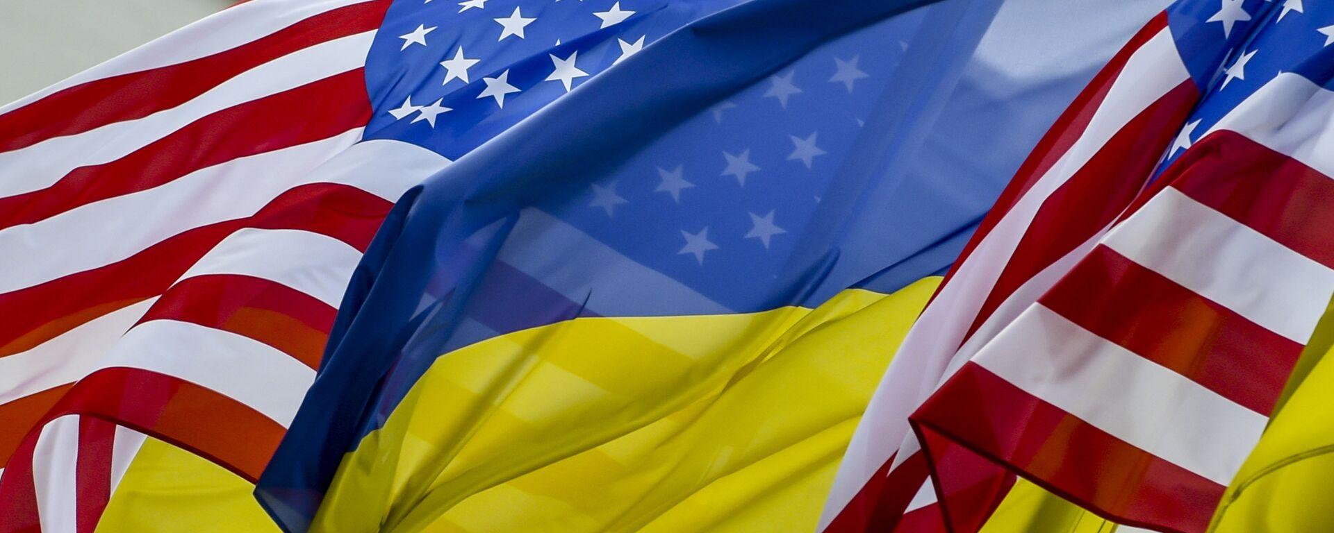 Флаги США и Украины - Sputnik Latvija, 1920, 18.05.2021