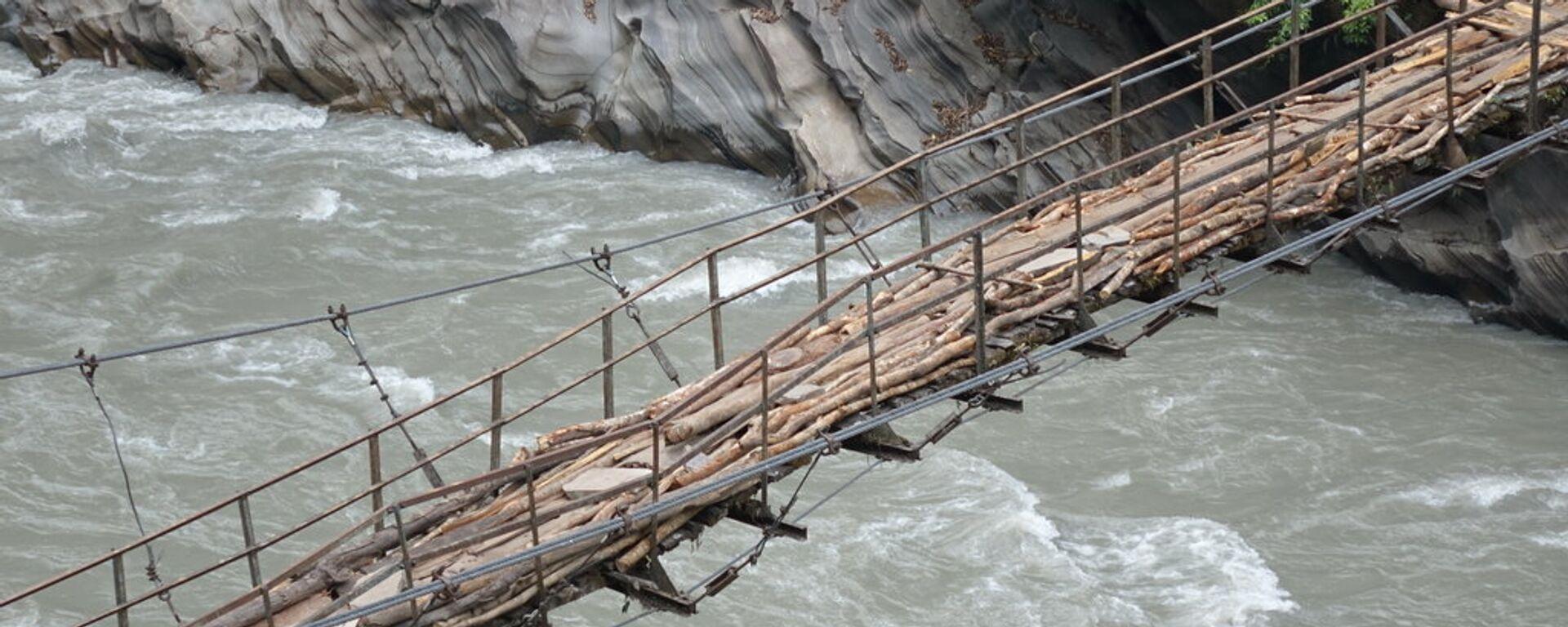 Мост в Непале - Sputnik Латвия, 1920, 04.10.2016