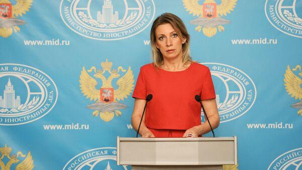 Krievijas ĀM oficiālā pārstāve Marija Zaharova. Foto no arhīva - Sputnik Latvija