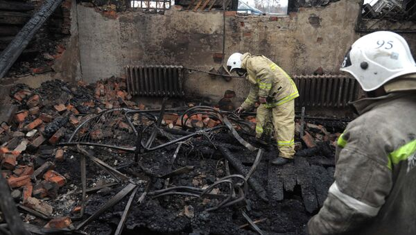 Пожар в психоневрологическом диспансере в Воронежской области - Sputnik Латвия