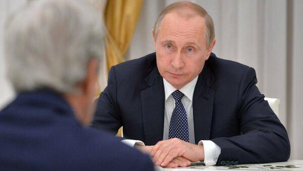 Krievijas prezidenta V.Putina tikšanās ar ASV valsts sekretāru Džonu Keriju - Sputnik Latvija
