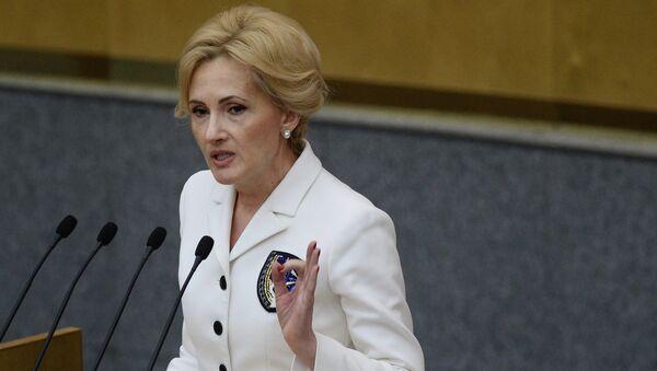 Krievijas Valsts domes Drošības un korupcijas apkarošanas komitejas priekšsēdētāja Irina Jarovaja. Foto no arhīva - Sputnik Latvija