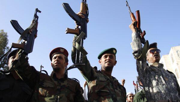 Jemenā. Protesta akcija husītu atbalstam - Sputnik Latvija