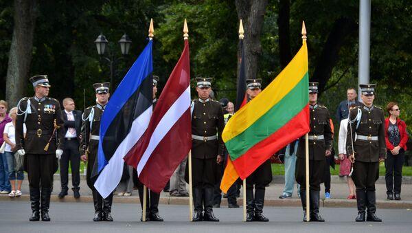 Флаги Эстонии, Латвии и Литвы. - Sputnik Латвия