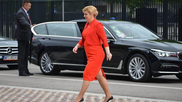 Президент Хорватии Колинда Грабар-Китарович - Sputnik Латвия