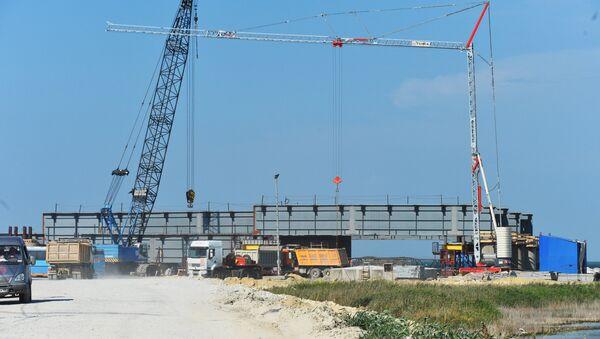Строительство моста через Керченский пролив - Sputnik Латвия