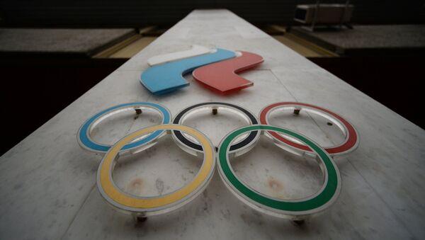 Вывеска Олимпийского комитета России в Москве - Sputnik Латвия
