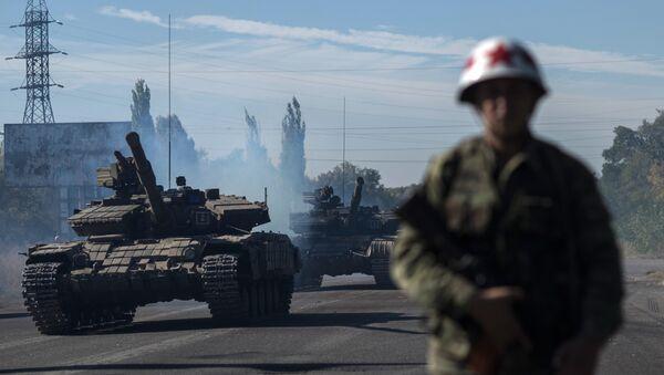 Отвод вооружений калибром менее 100 мм начался в ЛНР - Sputnik Latvija