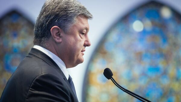 Ukrainas prezidents Petro Porošenko - Sputnik Latvija