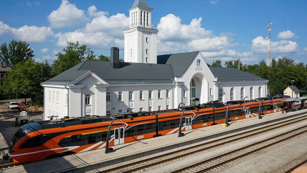 Железнодорожный вокзал в Валге - Sputnik Латвия