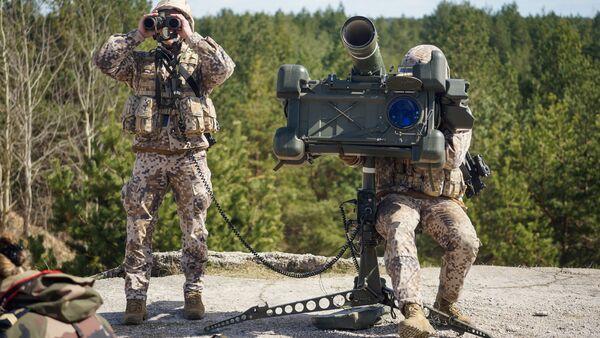 Latvijas Bruņoto spēku pretgaisa aizsardzības sistēma RBS-70. Foto no arhīva - Sputnik Latvija