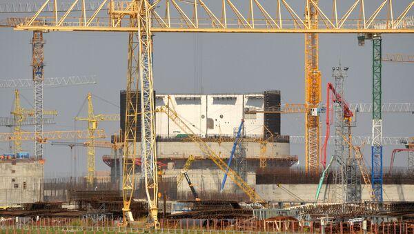 Строительство Белорусской АЭС в Островце - Sputnik Латвия