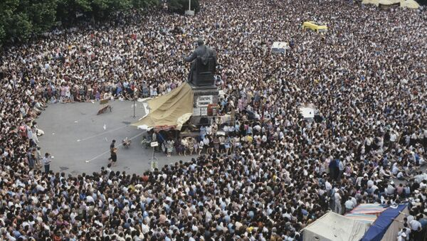 Многотысячный митинг в Ереване - Sputnik Latvija