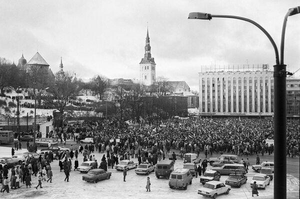 Антиправительственная демонстрация в Таллине. - Sputnik Latvija