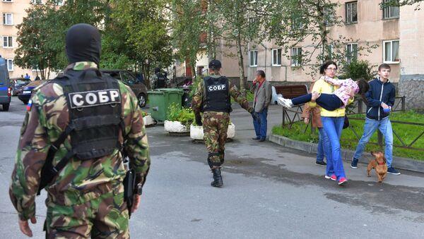 Операция по задержанию кавказских боевиков в Санкт-Петербурге - Sputnik Latvija