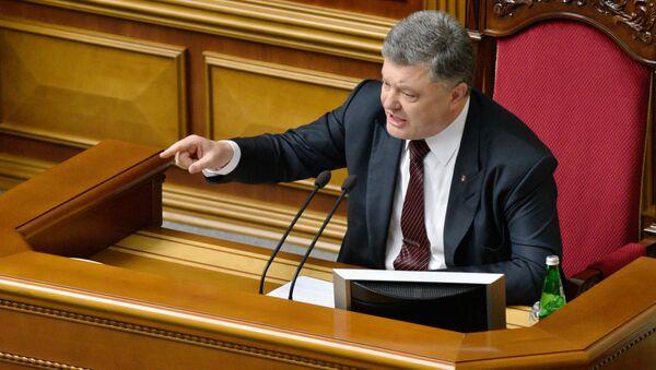 Ukrainas prezidents Petro Porošenko. Foto no arhīva - Sputnik Latvija