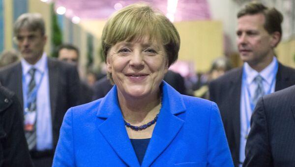 Федеральный канцлер Германии Ангела Меркель на всемирной конференции ООН по климату - Sputnik Latvija