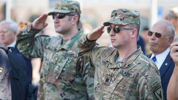 Представители расквартированных в Латвии вооружённых сил США - Sputnik Латвия