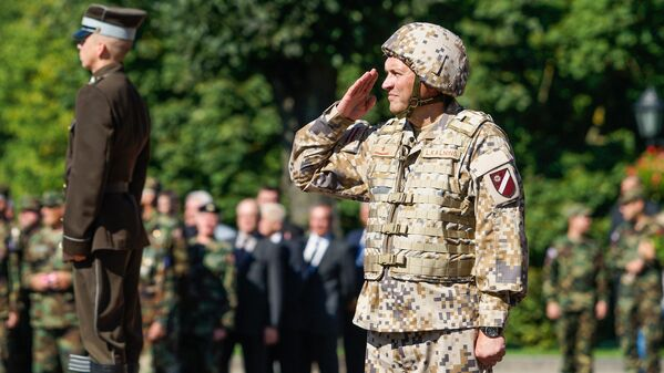 Командующий Земессардзе бригадный генерал Леонид Калныньш - Sputnik Латвия