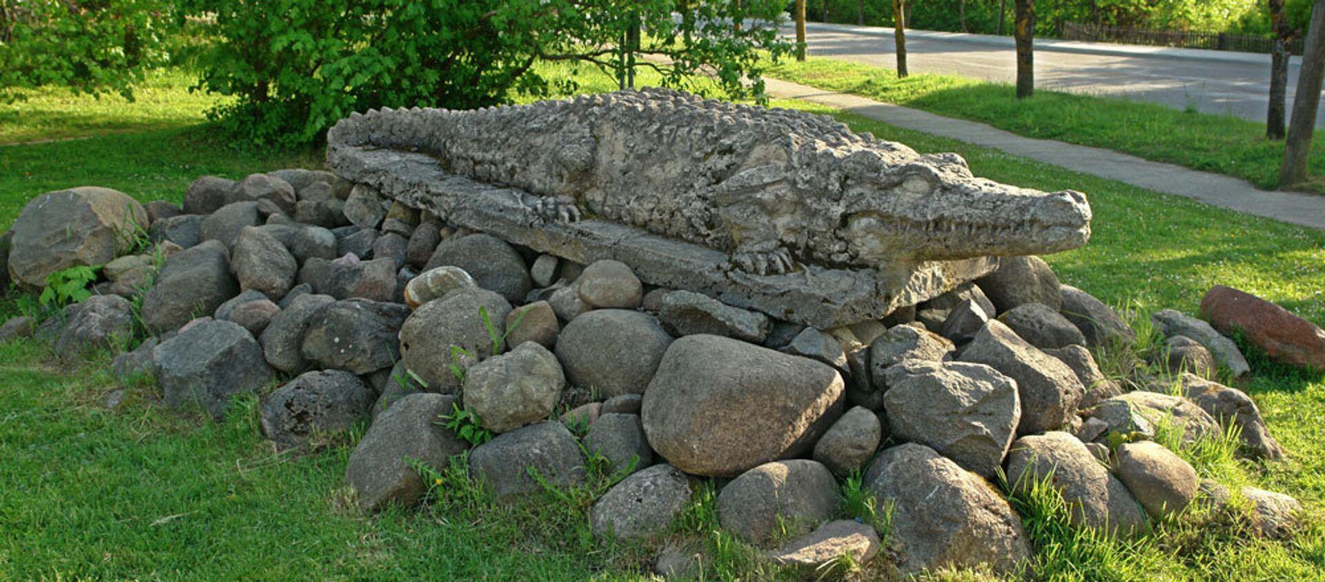 Памятник крокодила в Дундаге - Sputnik Латвия, 1920, 27.04.2021