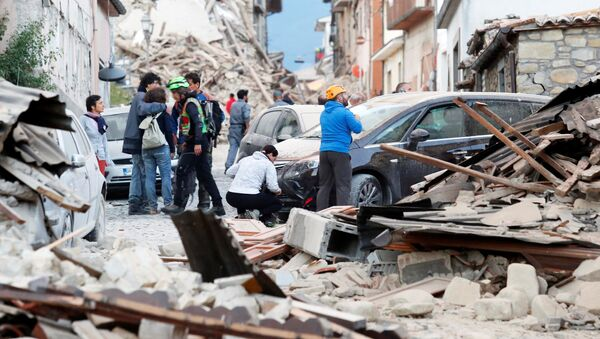землетрясение в Италии - Sputnik Латвия