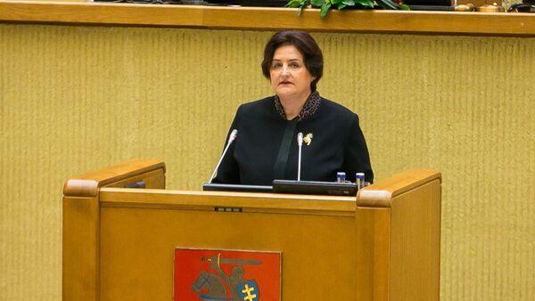 22-й председатель Сейма Литовской Республики Лорета Граужинене - Sputnik Латвия
