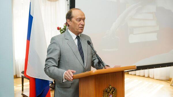 Krievijas vēstnieks Latvijā Aleksandrs Vešņakovs. Foto no arhīva - Sputnik Latvija